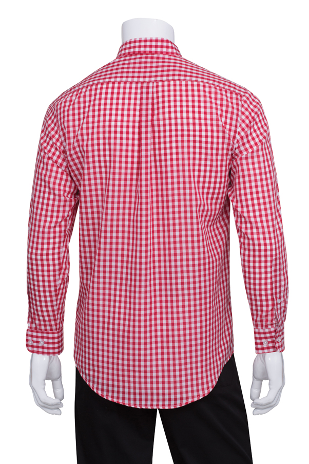 Chef Works Philippines Mens Gingham Dress Shirt D500